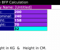 BlackBerry US Army Body Fat % Calculator Screenshot 0
