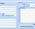 Excel Invoice Template Software Screenshot 0