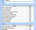 Excel Personal Financial Statement Template Software Screenshot 0