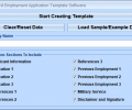 MS Word Employment Application Template Software Screenshot 0