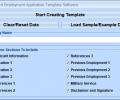MS Word Employment Application Template Software Screenshot 0