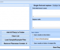 Find and Replace In All Files In Batch Software Screenshot 0